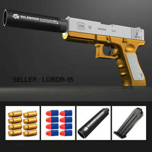 Glock & M1911 Shell Ejection Soft Bullet Toy Gun Outdoor Sports Fun