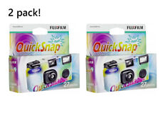 Two Fujifilm Disposable Quicksnap Camera 27 Exposure Photos - Single Use - New