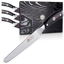 "Kessaku Steak Knife 4 Piece Set - Samurai Series - Japanese Etched HC Steel - 5"""