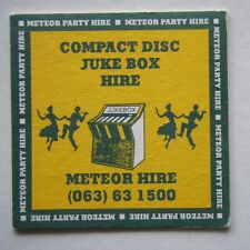 METEOR PARTY HIRE COMPACT DISC JUKE BOX 063 631500 COASTER