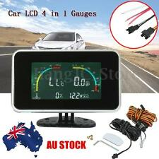 Car 4 IN 1 LCD Digital Display Voltmeter/Oil Pressure/Water Fuel Temp Gauge AU