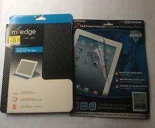 M-Edge Profile iPad Case, Carbon Fiber Black W/ 2 Xtreme Screen Protectors Gift