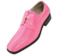 Viotti Mens Pink Patent Dress Oxford W/ Striped Satin Shoe Style 179-010