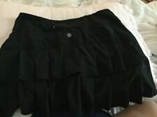 Lululemon 4 Tall Pleated Back Pace Setter Tennis Skirt Black Perfect