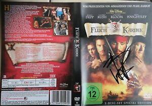 JOHNNY DEPP -  Original Autogramm auf der FLUCH DER KARIBIK DVD