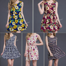 Chiffon Summer/Beach Paisley Plus Size Dresses for Women