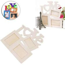 Hollow Love Wooden Frame with 3 Photograph Frame for family picture photo Toy XV