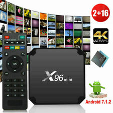 X96 Mini Android 7.1.2 Quad-Core TV Box 4K USB 2G+16GB WiFi Media Player Remote