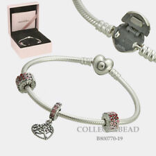 Authentic Pandora Silver Tree of Love Bracelet Charm & Clips Gift Set B800770-19
