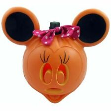 "Free Priority Halloween Light Up Minnie Mouse Jack O Lantern 11"" Plastic Pumpkin"
