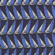 Polo Ralph Lauren Nautical Sail Boat Yatch Rock Blue Black White Silk Neck Tie