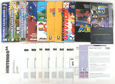 Nintendo N64 Manuals, Leaflets & Game Guides (Mystical Ninja, Mario, Diddy etc.)