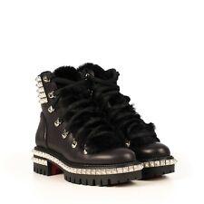 CHRISTIAN LOUBOUTIN 1695$ Black Leather Yeti Donna Ski Boots
