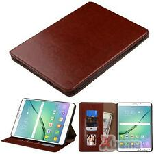 XM-For SAMSUNG T817A(Tab S2 9.7-inch) Brown PU Leather ID/Wallet Tablet Case Pou