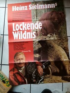 """Heinz Sielmann """"Lockende Wildnis""""- Filmaushangplakat  ca. 84x 65 cm  -original"""
