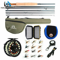 Maxcatch Travel Fly Fishing Combo 5/6 7/8Weight, 7 Piece Fly Rod and Reel Outfit