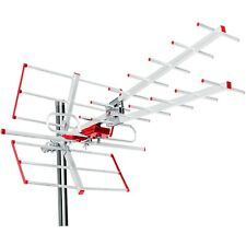 Antena Direccional Externa TV DVB-T Combo UHF VHF Activo máx. 100dBμV Filtro Lte