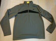 Nwot New Balance Golf,L/S.1/4 Zip Shirt,Md Men,Lead Gray,Warm Fleece Lined,Excel