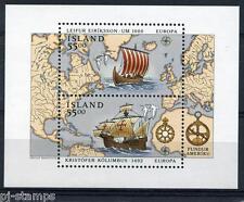 1992 IJsland blok 13 Europa CEPT - Ontdekking van Amerika
