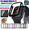 For Apple Watch SE Series 6 5 4 3 2 1 Case Cover Tempered Glass Screen Protector