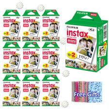 For Fujifilm Instax Mini 8 9 Camera Film Sheets Fuji Instant White Frame Photos