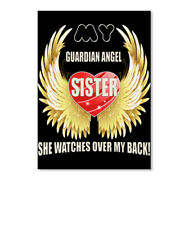 Premium My Guardian Angel Is Sister She Watches Over Back Sticker - Portrait
