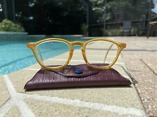 VINTAGE Beige AMERICAN OPTICAL Safety Eyeglasses with Leather Looking Case