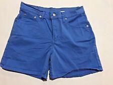 Levis 555 Women's Shorts Size 8 Blue Stretch EUC