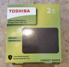 Toshiba Canvio Basics 2TB USB 3.0 Portable External Hard Disk Drive Black New