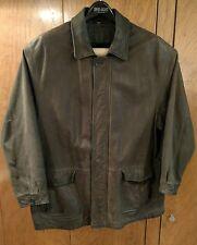St John's Bay supple brown leather coat 2XLT