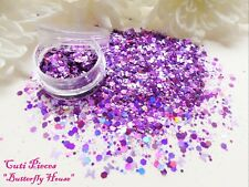 Nail Art *Butterfly House* Purple Lilac Pink Hexagon Holographic Mix Glitter Pot