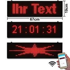 Laufschrift Werbung klein rot WiFi Wlan App Handy & Windwows programmierbar