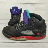 Nike Air Jordan 5 Retro GS Sneakers Black Leather CZ2989-001 Youth 5.5Y Womens 7