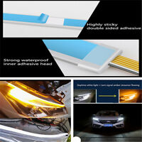 2x60cm DRL LED Driving Daytime Running Light 12V fog lamp Eyebrow Water Flowing