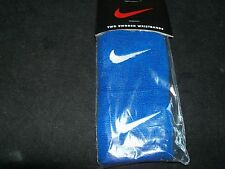 NIKE a pairs of  Swoosh Wristbands for tennis and other-Blue/White