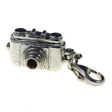 Argento Sterling Stile Vintage Leica 35mm Fotocamera Clip Ciondolo si apre per mostrare Birdy