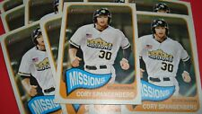 2014 TOPPS HERITAGE MINOR #186 CORY SPANGENBERG 15 ROOKIE CARD LOT SD PADRES