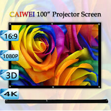 100 Inch 16:9 Big Projector Screen Portable Home Travel Movie Outdoor 100'' Size