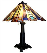 Mission Stained Glass Table Lamp Tiffany Style Shade