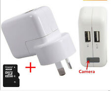 16GB AC Power Adapter Motion Detection Hidden Mini Spy Charger Camcorder 1080P