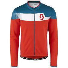 Maglia ciclismo Scott Shirt Endurance AS L/sl Rosso Fluo Blu-bianco Taglia L