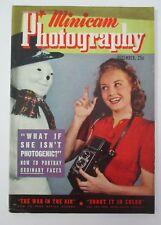 Dec. 1940 Minicam PHOTOGRAPHY w/ Snowman Christmas Cover