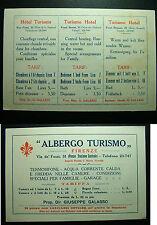 """1935 """"Albergo Turismo""""  Firenze  -  Via de Fossi 31    tariffe e caratteristiche"""