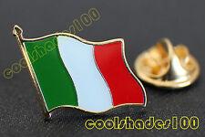 Italy National Flag Waving Metal Lapel Pin Badge