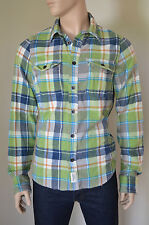 Nueva Abercrombie & Fitch Panther Gorge Franela Camisa Verde Cuadros Xl RRP £ 120