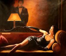 Original Painting -BETWEEN SUEDE & SILK  Antonio Rico -LARGE 102x123cm/Stretched