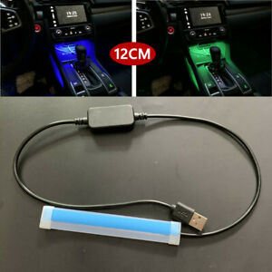 12CM USB Car LED Central Control Light Strip Interior Atmosphere Glow Neon Lamp
