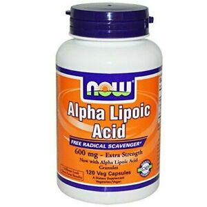 Now Foods Alpha Lipoic Acid 600 mg - 120 Veg Capsules 2 Pack