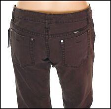 """BNWT Mujeres """"s Oakley Jeans Denim industrial L31"""" tamaño de Reino Unido 8 Negro Entallada Nuevo"""
