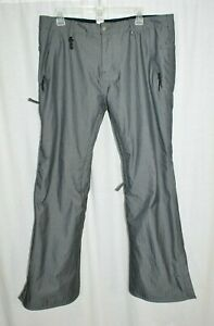 686 Dickies Snowboard Pants Women's Large Infidry Gray Stretch Fit Thermal 6